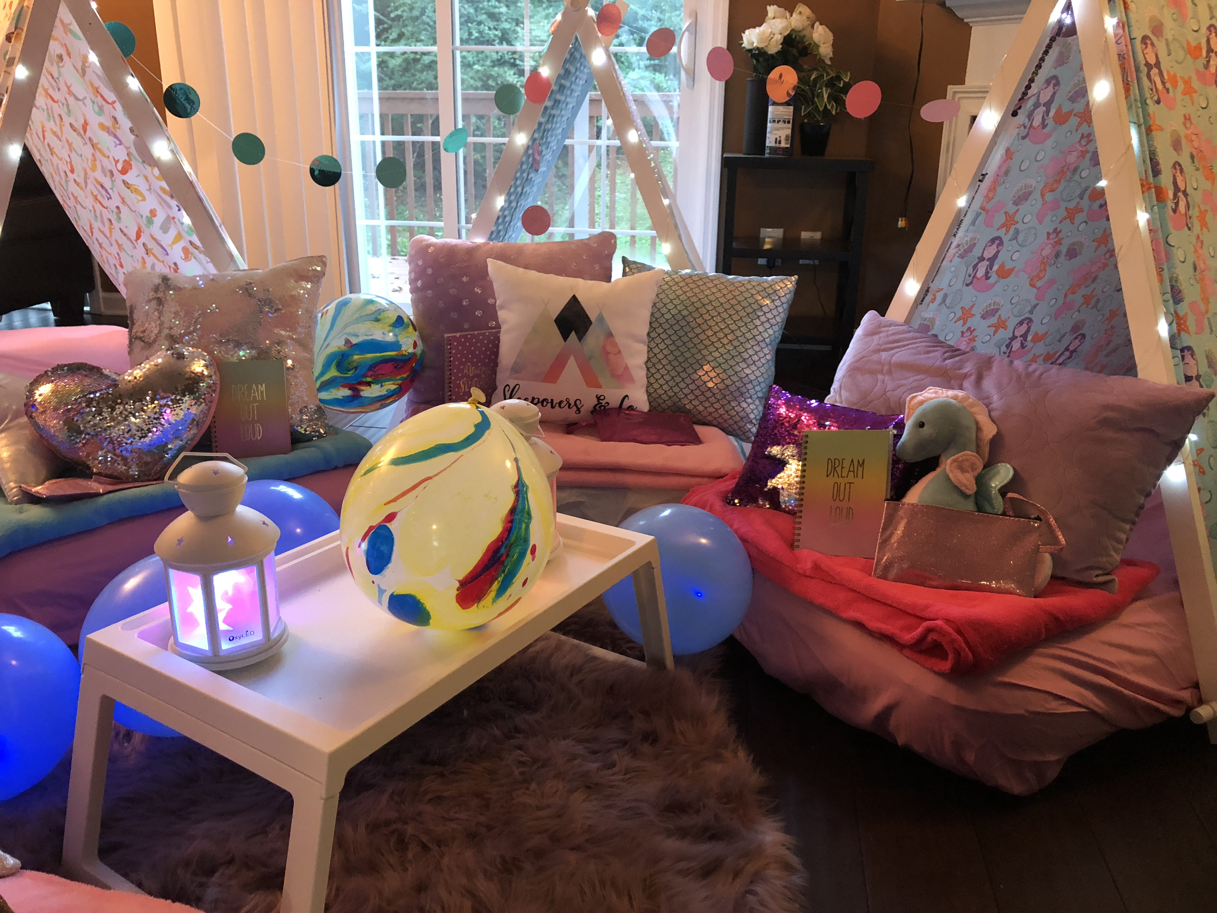 Mermaid Themed Sleepover