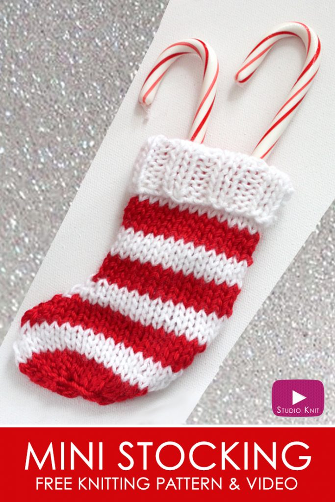 How To Knit A Mini Christmas Stocking